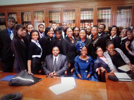 Youth Members of Parliament, Madame President of the Senate and a few Senators.