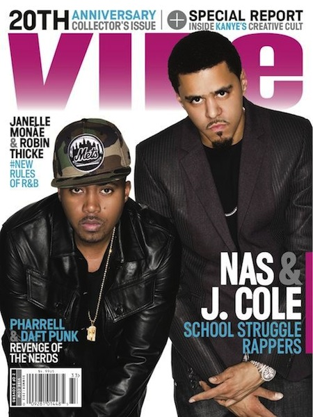 J.Cole & Nas featured on the Vibe 2013 Cover